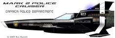 Battlestar Galactica- Mark II Viper police cruiser, Caprica Police Department #BSG