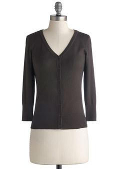 Charter School Cardigan in Charcoal. Show your style smarts in this versatile cardigan!  #modcloth