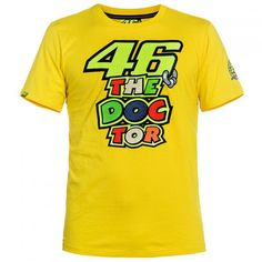 Valentino Rossi VR46 The Doctor Moto GP T-shirt Yellow Official 2016