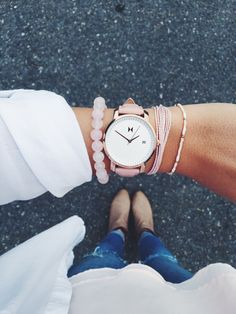 Rose Gold/Peach leather