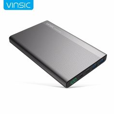 Vinsic 5V/3A 20000mAh Type-C Fast Charge Power Bank Dual Smart USB & Type-C Outputs External Battery Charger    Features:  – 20000mAh high capacity  – Universal compatibility  – Built in dual SMART USB outputs  – Type-C supports both input and output  – Six security protection  – Easy-to-read digital touch screen  – High quality battery and chip  – Top grade materials and components  – Unique appearance design  Specification:  Model: VSPB304  Micro USB Input: DC 5V 2.4A  Type-C Input: DC 5V…