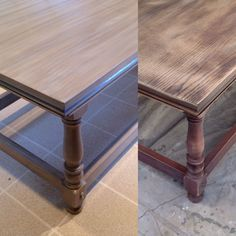 Refurbished Coffee Table...greige color blend with General Finish paint and wood stain.