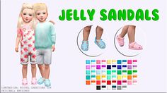 Sims 4 CC's - The Best: Jelly Sandals by victorrmiguellcreations