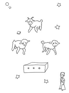 Draw me a Sheep coloring page from Little Prince category. Select from 21651 printable crafts of cartoons, nature, animals, Bible and many more.