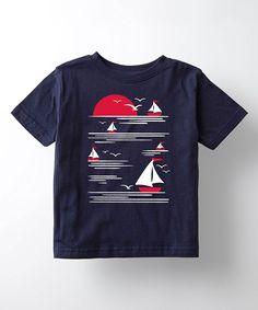 Navy Sun and Sailboat Tee - Toddler & Kids