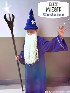 Sew Can Do: Making a Magical Wizard Costume.  How to DIY an awesome wizard costume for Halloween!