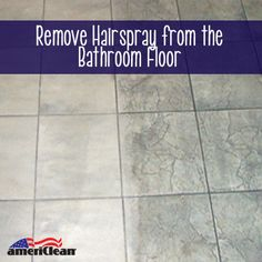 With the use of this simple cleaning solution, you'll quickly be able to remove the sticky hairspray from your bathroom floors.