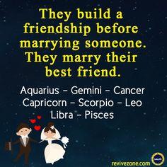 zodiac signs, aries, taurus, gemini, cancer, leo, virgo, libra, scorpio, sagittarius, capricorn, aquarius, pisces, friendship, marriage, friendship before marriage