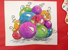 Color It Like you MEAN it!: Step by Step how to draw and watercolor ornaments 4th grade?? I think a 3rd grade class could do this.