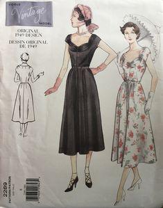 Vogue Vintage, Vintage Vogue Patterns, Vintage Models, Vintage Fashion, Vintage Clothing, Evening Dress Patterns, Dress Sewing Patterns, Pattern Dress, Vogue Models