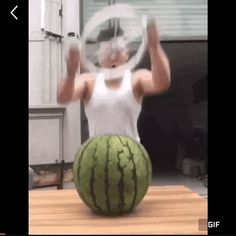 How to cut the watermelon in 1 second GIF | Funny Goblin