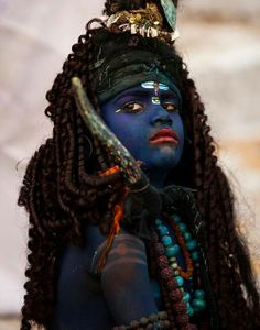 Portrait of a boy dressed as lord Shiva - Pushkar Rajasthan - Explored We Are The World, People Around The World, Around The Worlds, Lord Shiva, Interesting Faces, World Cultures, Incredible India, Belle Photo, Tantra