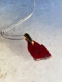 Garnet Pendant Talisman Garnet Pendant, Crow, Handcrafted Jewelry, Pendant Necklace, Unique, Handmade Chain Jewelry, Raven, Handmade Jewelry, Handmade Jewellery