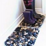 Upcycled Garden: Boot Tray using rocks!  Not a DIY but a great idea!