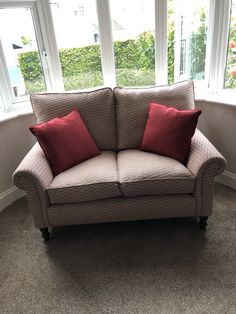 Small made to measure traditional sofa handcrafted in Long Eaton. We used fabrics from Swaffer - Zen Parterre. Sofa Bed, Couch, Bespoke Sofas, Traditional Sofa, Cushion Filling, Cribs, Love Seat, Zen, Sofa