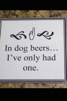Lovin the dog beers