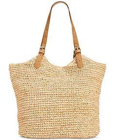 Straw Studios Straw Tassel Tote - Handbags & Accessories - Macy's