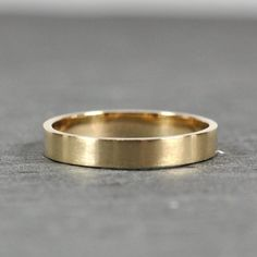 flat edged wedding ring - Google Search