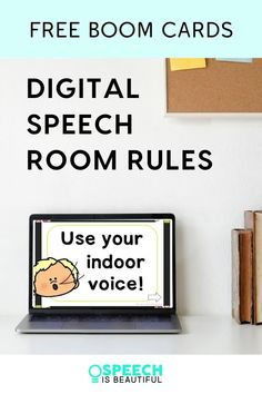 Do you want to review speech room rules with your students prior to starting your speech therapy sessions? Use these DIGITAL SPEECH ROOM RULES. This set is a FREE interactive BOOM CARD resource. | Speech is Beautiful