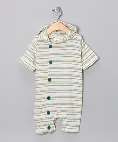 Green Hooded Romper - Infant
