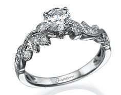 Engagement Set White Gold Wedding Set Wedding by Gispandiamonds