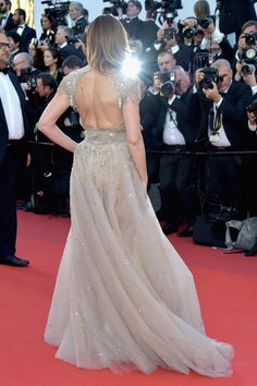 """Clotilde Courau attends the """"Ismael's Ghosts (Les Fantomes d'Ismael)"""" screening and Opening Gala during the 70th annual Cannes Film Festival at Palais des Festivals on May 17, 2017 in Cannes, France."""