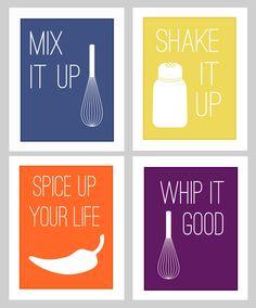 new kitchen prints