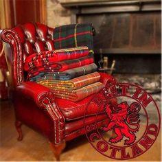 Highland Tweeds Tartan Picnic blanket wool throw rug British Made by Bronte Scottish Decor, Scottish Plaid, Scottish Tartans, Tartan Throws, Tartan Plaid, Tartan Decor, Wallace Tartan, Cozy Chair, Large Blankets