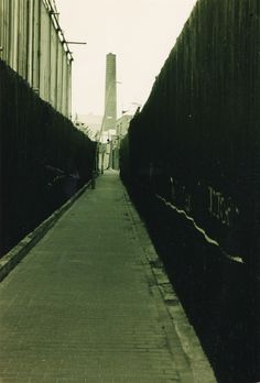 Thames Path, Greenwich, sepia photo, late 1980s. Urban decay, industrial decay