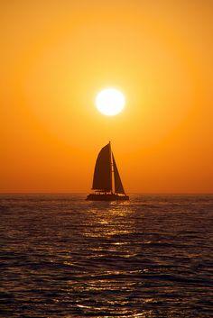Sunset Sailing by Kenneth J. Garcia on Flickr.