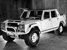 1982 Lamborghini LM002 Prototype (by Auto Clasico) - now with the engine front mounted (as opposed to the LM001 concept of 1981 which was rear engined) the LM002 still didn't make it to production until 1986.