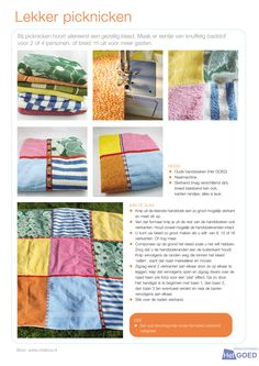 Picknickkleed van oude handdoeken