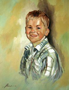 Portret chłopca  olej