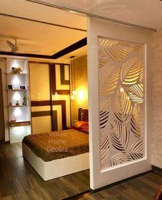 Living Room Partition Design, Room Partition Designs, Bedroom False Ceiling Design, Home Room Design, Modern Bedroom Design, Living Room Designs, Dispositions Chambre, Country Style Living Room, Wardrobe Design Bedroom