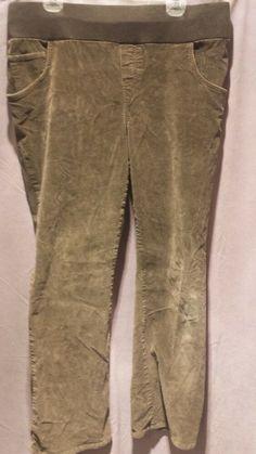 d8227d363cb11 Duo Maternity Women's Pregnancy Pants Corduroy Khaki Color Size Large  #fashion #clothing #shoes