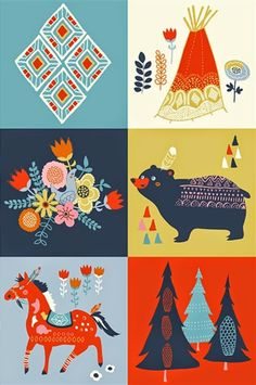 print & pattern: FABRICS - miriam bos. A fabric pattern theme would make an interesting hoop art collection