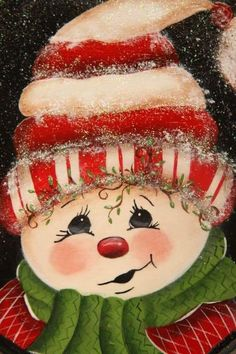 Christmas Rock, Christmas Signs, Christmas Pictures, Christmas Snowman, Christmas Greetings, Vintage Christmas, Christmas Decorations, Christmas Paintings On Canvas, Christmas Canvas