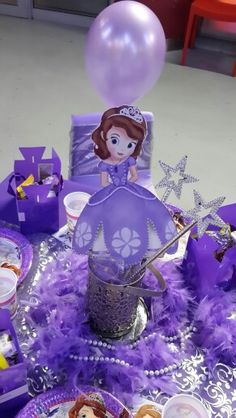 Fit for a Princess table set up for a Sofia the First Themed Party Done by RED Cherry Kiddies Events. Contact us on party@redcherrykiddiesevents.co.za or log onto www.redcherrykiddiesevents.co.za