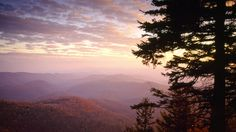 Wolf Mountain Overlook at Sunset From the Blue Ridge Parkway, North Carolina - http://imashon.com/w/nature/wolf-mountain-overlook-at-sunset-from-the-blue-ridge-parkway-north-carolina.html