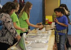 Turkey, stuffing, green beans and mashed potatoes were just a few of the items kids could pick to eat at our dinner.