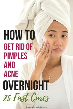 Suffering from stubborn acne and pimples? Discover fast and safe remedies and treatments to get rid of annoying pimples and acne virtually overnight. Check out some super effective acne treatments. Fabulous tips; does not matter if your pimples are cystic, under the skin or on chin, forehead or chicks. Remove pimples and acne fast. #pimples #acne #getridofpimples #gertridofacne #pimplesremedies #pimplesremediesovernight #howtogetridofpimples #acneremedies #acnetreatment  via @leanhealthywise