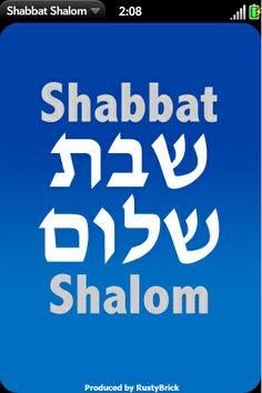 Shabbat Shalom for Pre