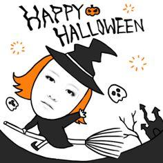 Happy halloween~ #facecon #face  #kakao #halloween #line