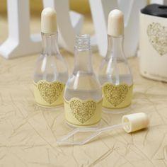 48 Coeur Mariage Bulles Baguette bouteilles tubes faveurs Décorations faveur Lot