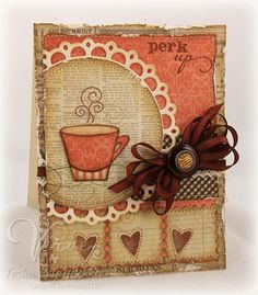 Pretty coffee card!  #cardmaking #crafts #diy