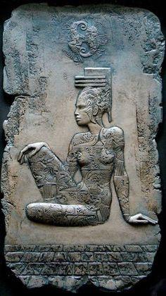 Барельеф дизайн - Сайт barelief! Art Sculpture, Abstract Sculpture, Egypt Art, Ancient Egyptian Art, Mural Wall Art, Krishna Art, Indigenous Art, Animal Paintings, Cool Art