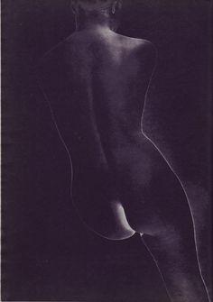 Erwin Blumenfeld's Frozen Emulsion - A negative print from a completely solarized negative
