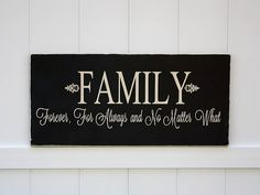 Family Forever For Always Hand-Painted Wooden by studioninetwenty on Etsy - $45.00