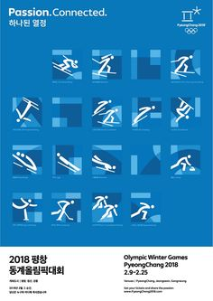 Olympic Winter Games PyeongChang 2018 PR Poster-Pictogram