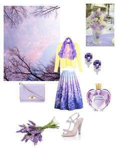 """""""Lavender inspired fashion"""" by thefrugal-fashionista on Polyvore featuring Paper Dolls, Chicwish, Damsel in a Dress, Kate Spade and Vera Wang"""